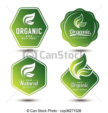 Vector Illustration of eco label.