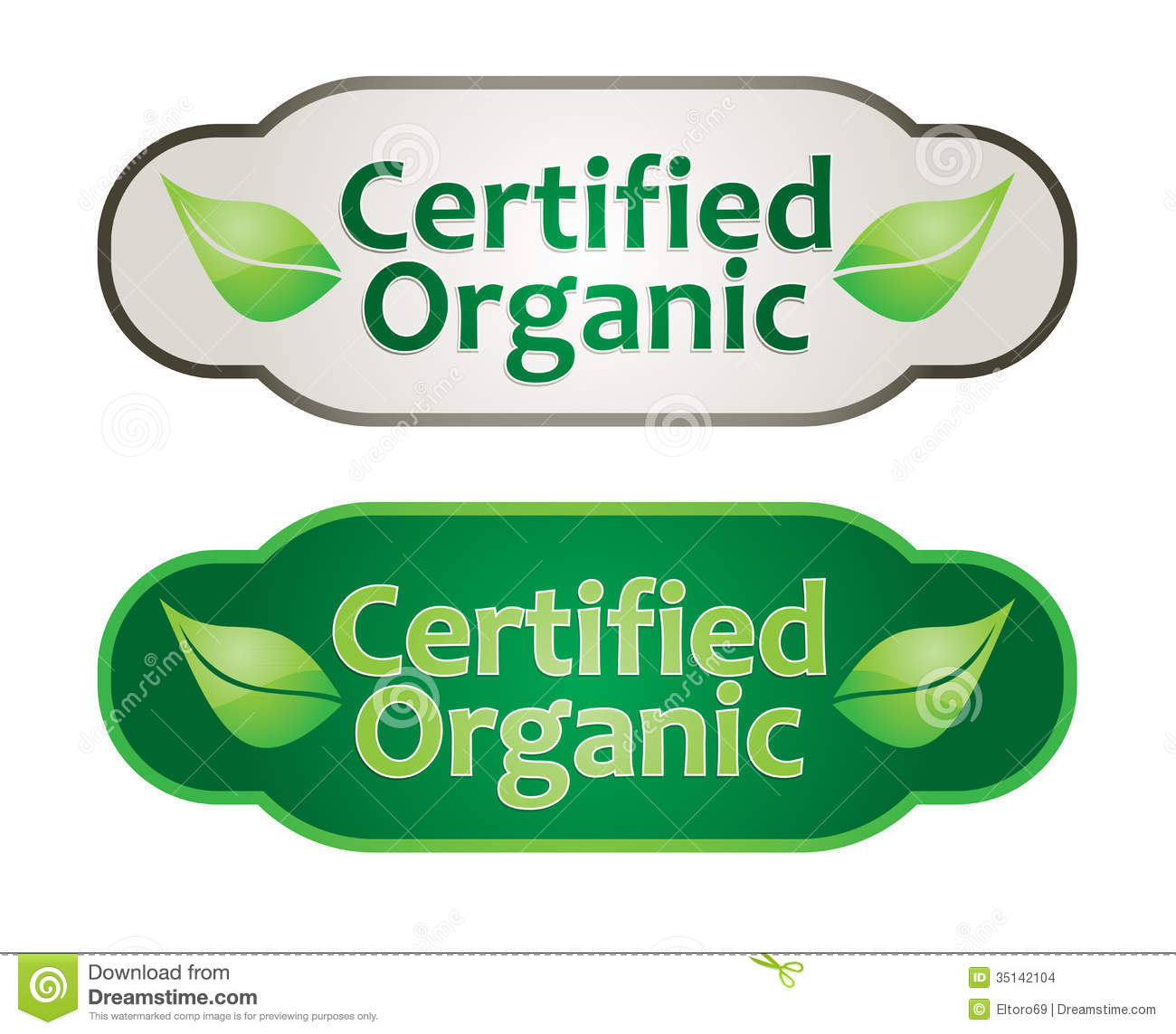 Eco Label Set Stock Images.