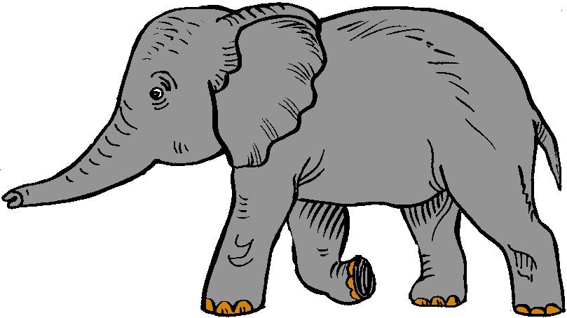 Preschool elephant clipart.