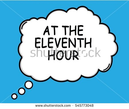 The Eleventh Hour Stock Photos, Royalty.