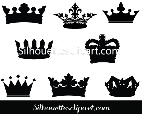 Crown Silhouette Vector Graphics.