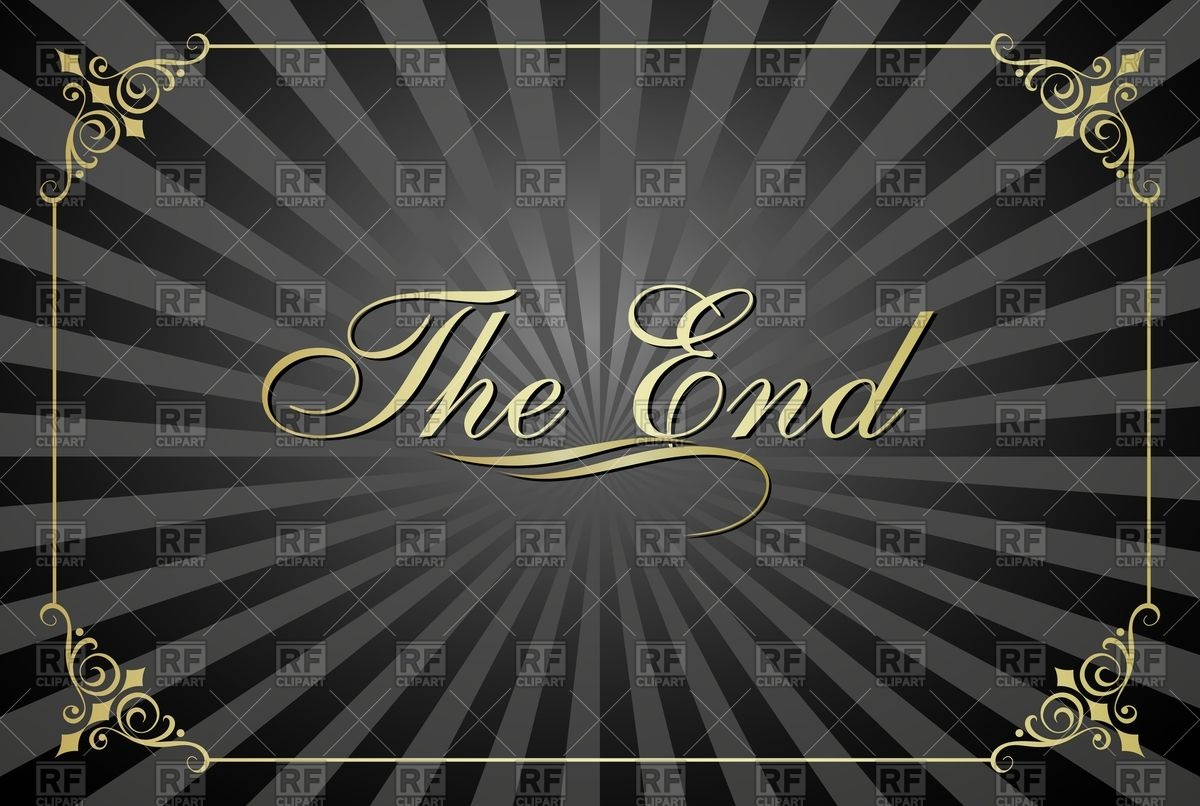 the end clipart.