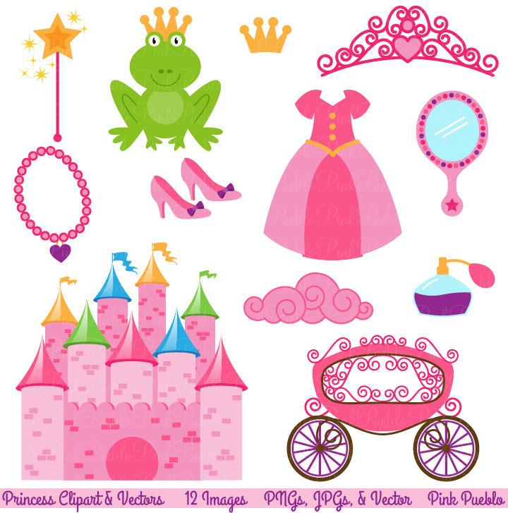 Princess Fairytale clip art Storybook Clip by PinkPueblo.