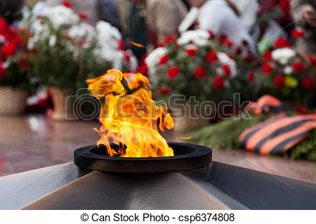 Pictures of The Eternal Flame memorial.
