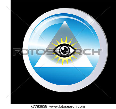 Stock Illustration of Triangle eye of god protection k7783838.