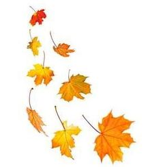 Falling fall leaves clip art.