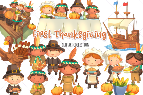 First Thanksgiving Clip Art Collection.