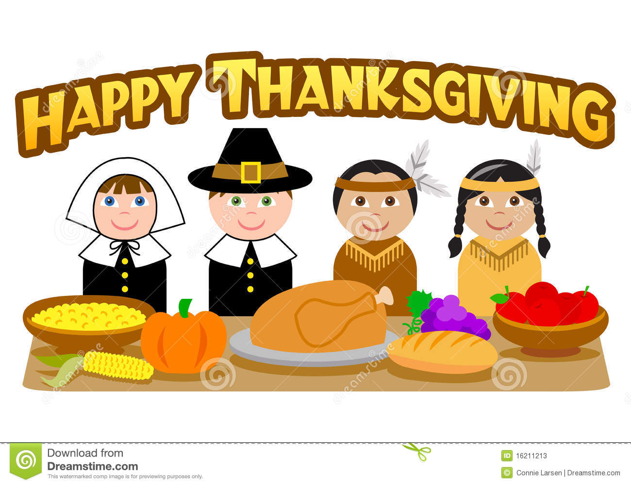 191 Thanksgiving Feast free clipart.