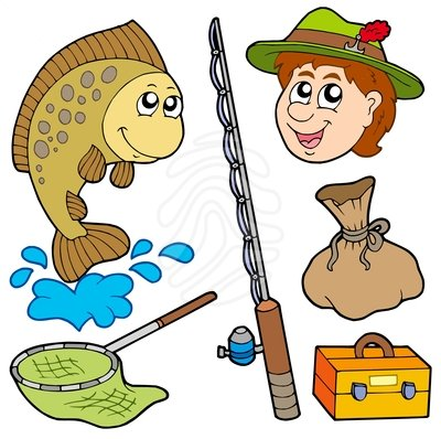 Family Fishing Clipart.