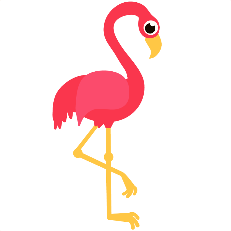 Flamingo Clipart Public Domain.