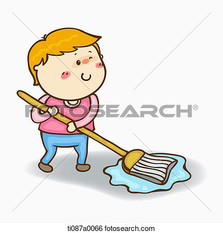 Showing post & media for Cartoon mopping the floor clip art.