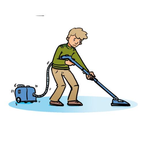 Vacuum The Floor Clipart.