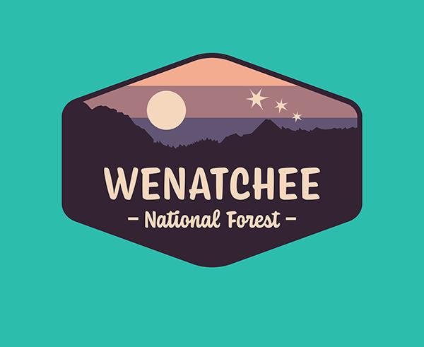 Wenatchee National Forest logo on Wacom Gallery.
