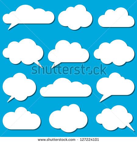 Cloud Vectors Stock Images, Royalty.