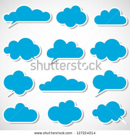 Cloud Icons Stock Photos, Royalty.