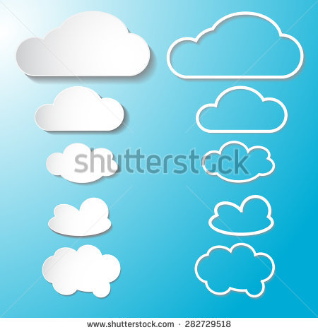 Vector Illustration Clouds Collection Stock Vector 164737685.