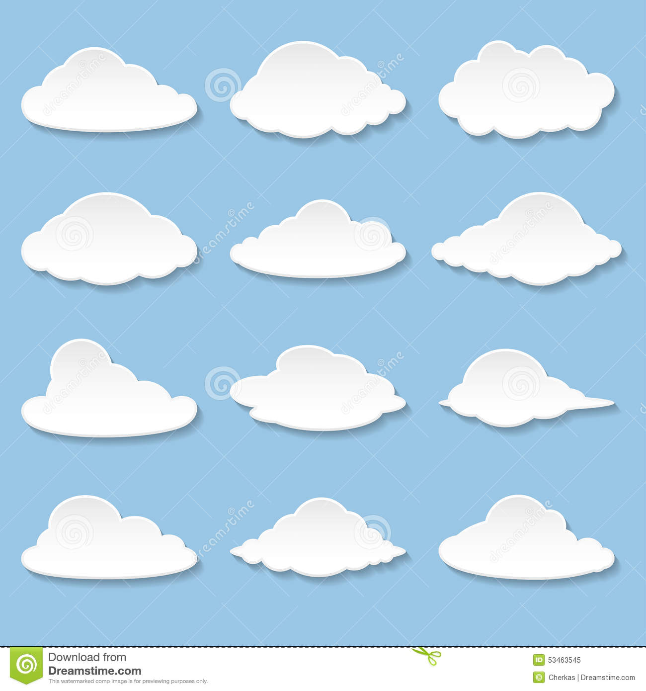 Messages In The Form Of Clouds Stock Vector.