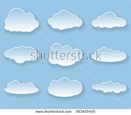 Illustration Messages Form Clouds Vector Stock Vector 133866239.