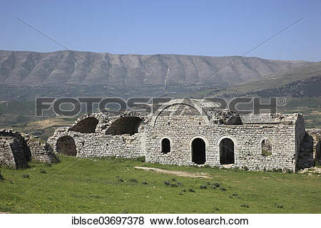 "Pictures of ""Part of the fortifications of Berat Castle, Berat."