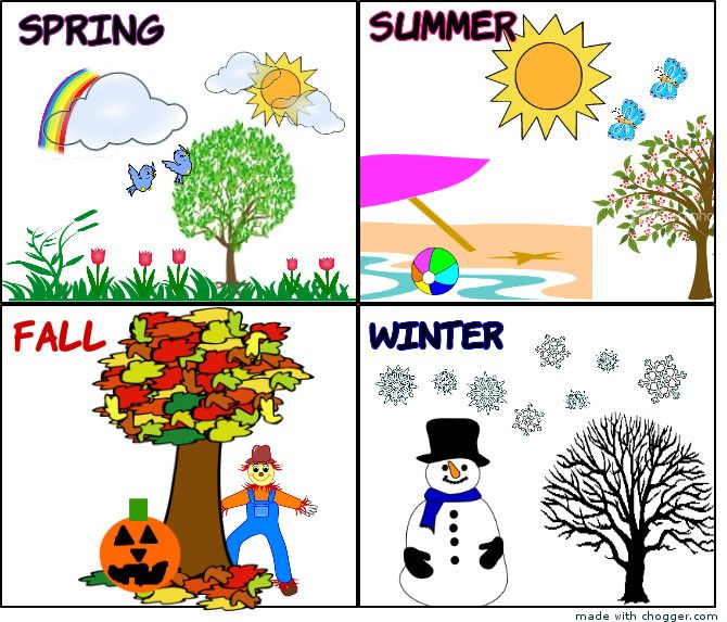 Four Seasons Clipart Kids.