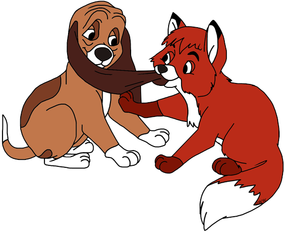 The Fox and the Hound Clip Art.