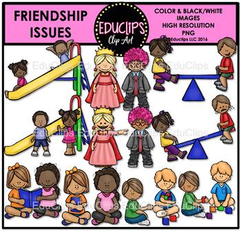 Friendship Issues Clip Art Bundle {Educlips Clipart}.