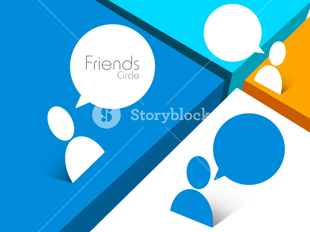 Happy Friendship Day Background With Friends Connected.
