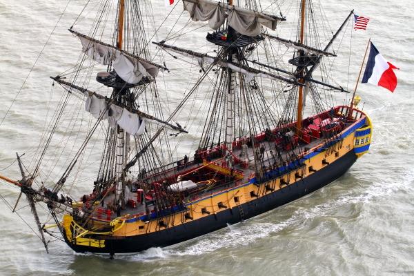 Revolutionary French Frigate Hermione Sails to U.S..