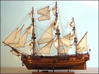 Lafayette's Ship The Hermione.
