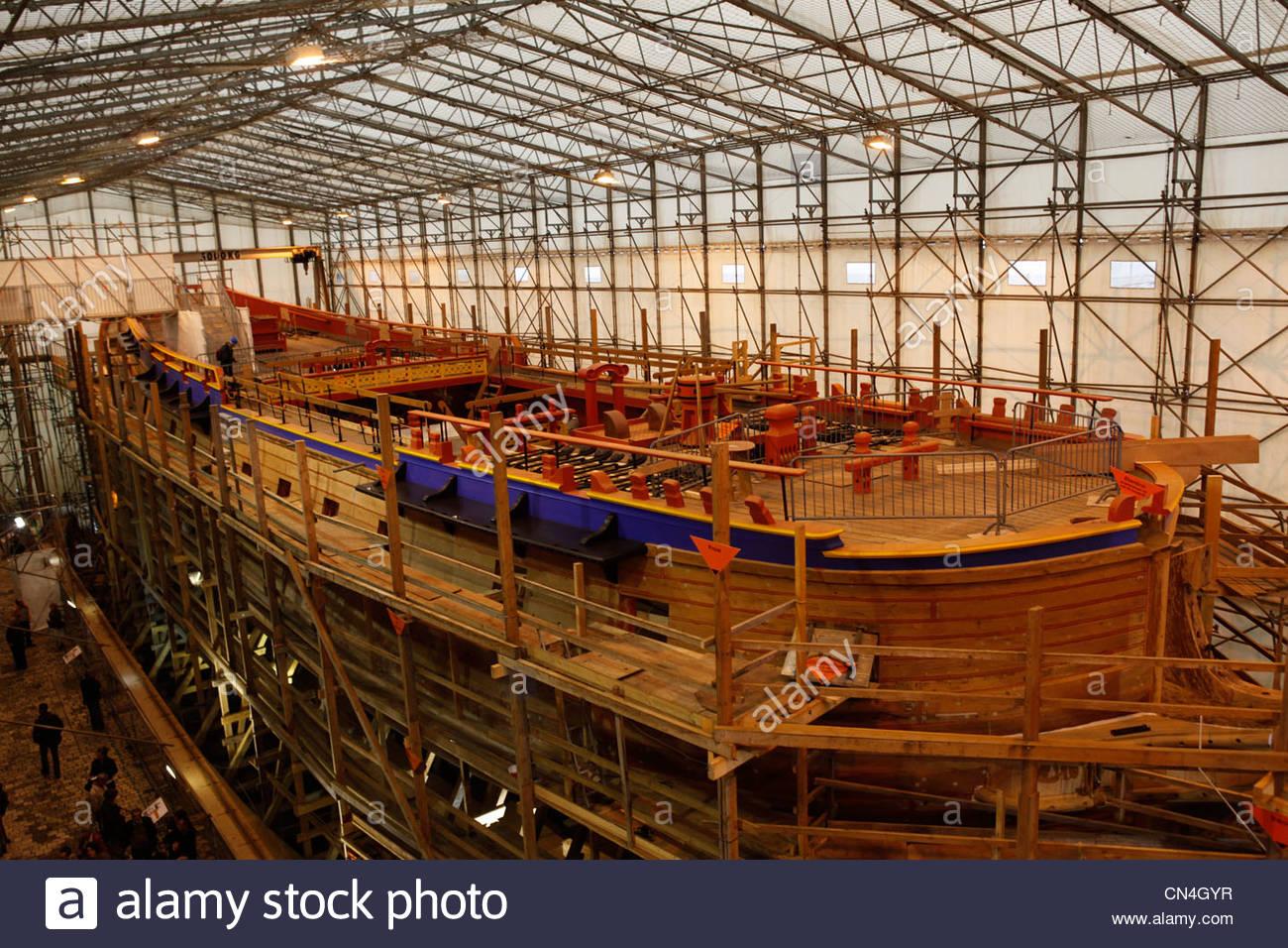 France, Charente Maritime, Rochefort, Shipyard Replica Of The.