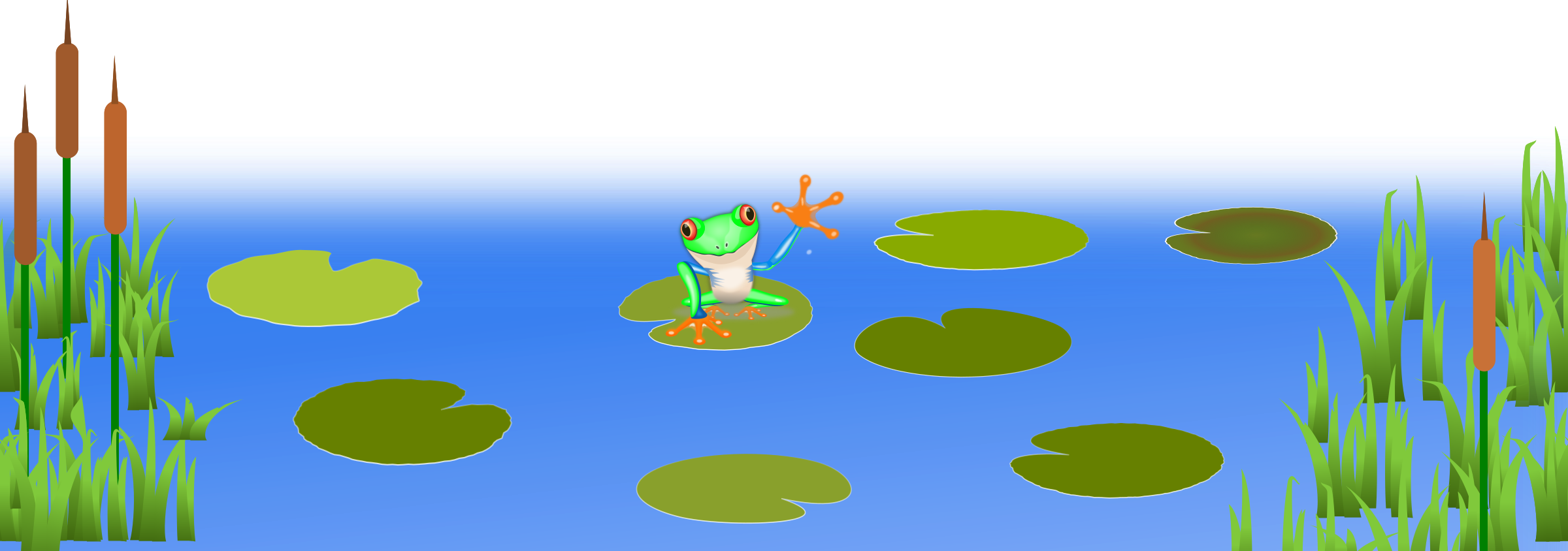 The frog pond clipart #19