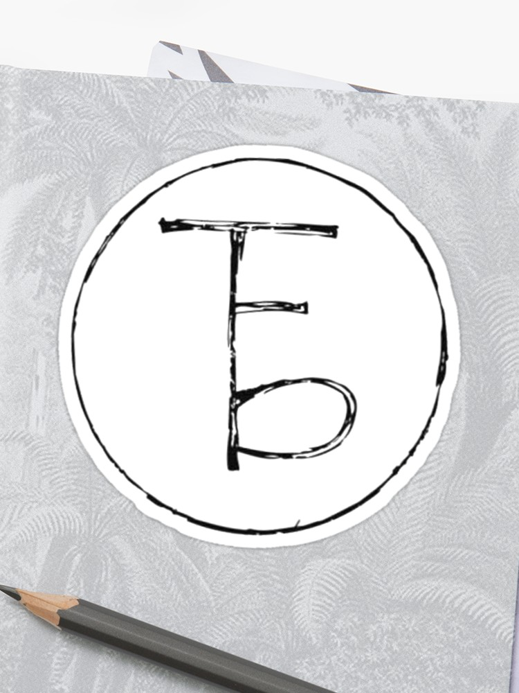 \'The Front Bottoms Logo\' Sticker by katiej188.