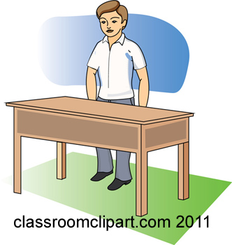 The Table In Front Of Clipart.