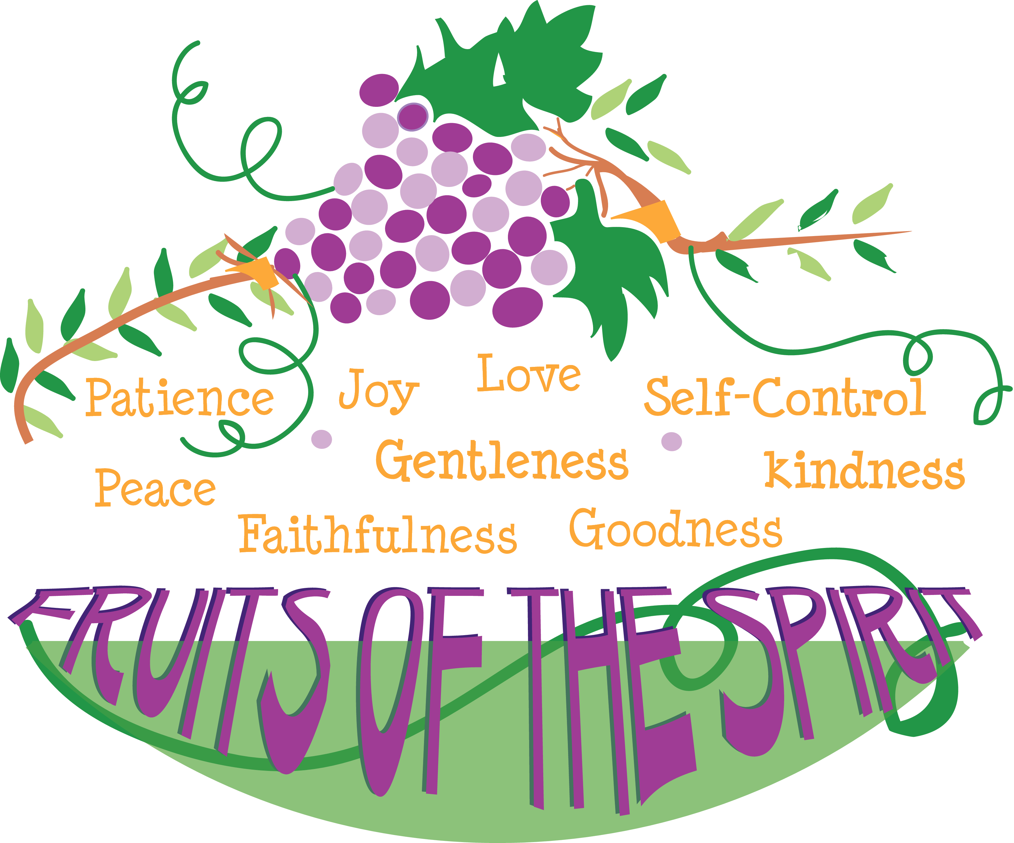 Fruit of the Spirit Scripture Clip Art.