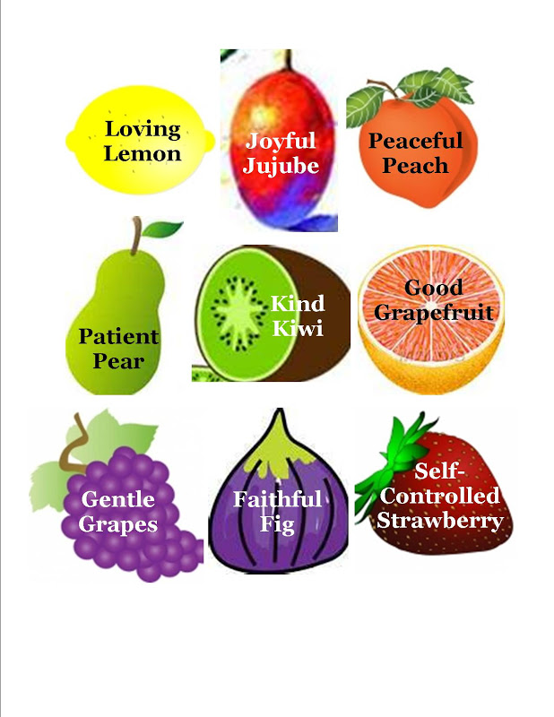 Fruit of the Spirit with Bible Clip Art.