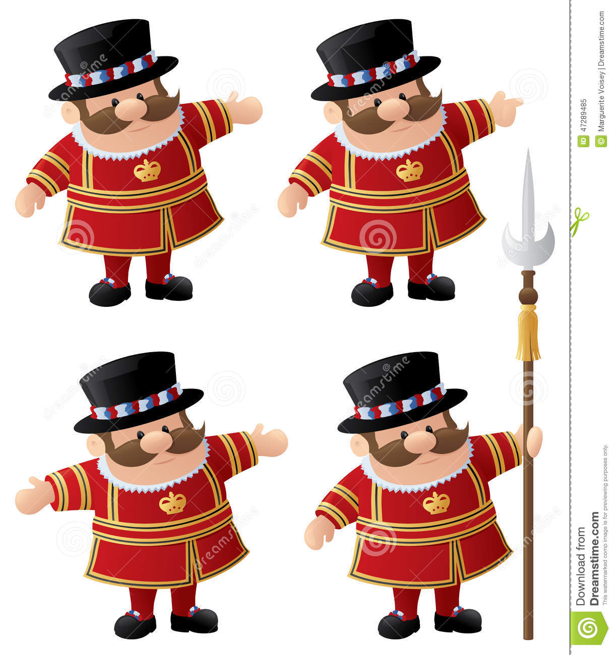 Yeoman Of The Guard Stock Vector.