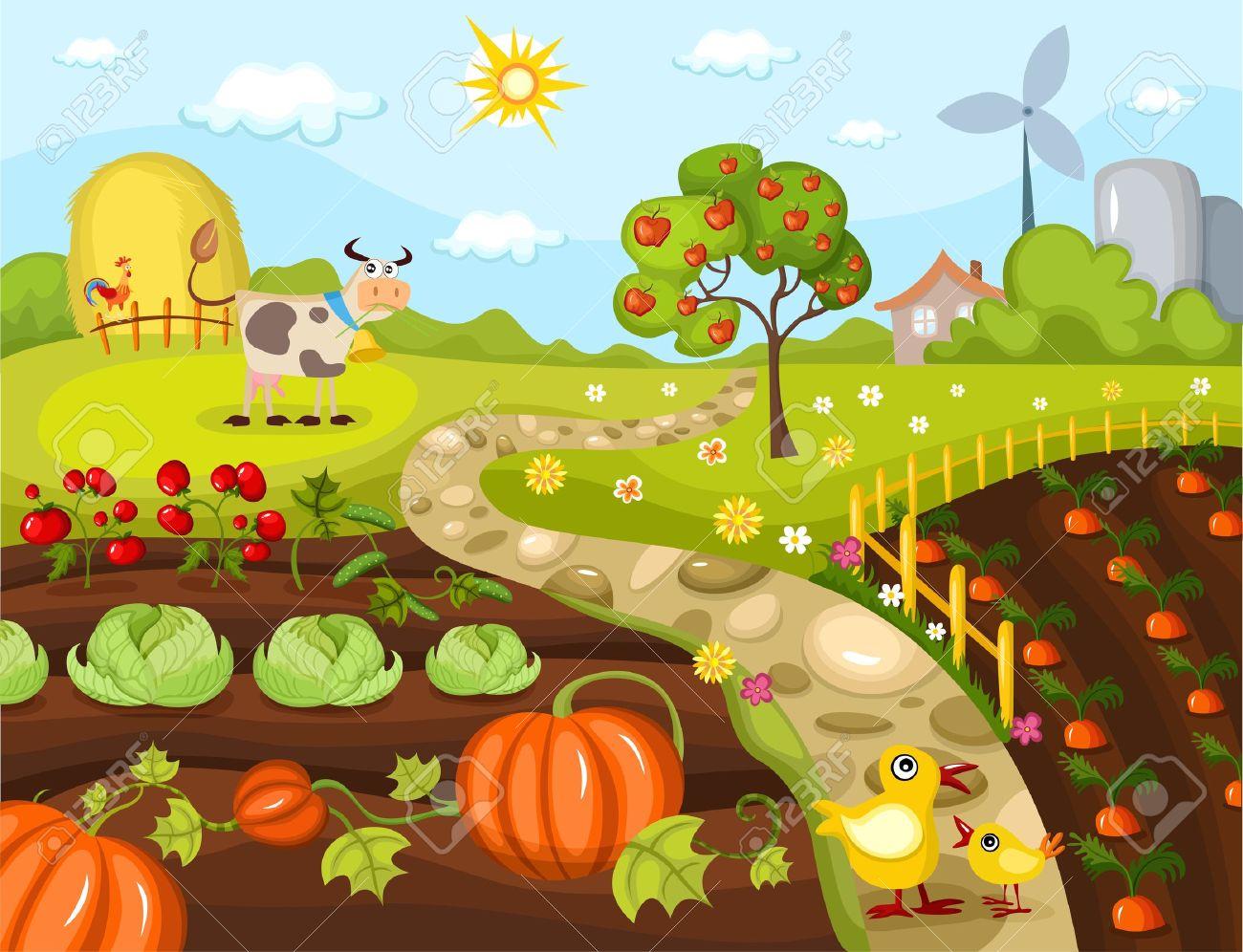 Farm garden clipart.