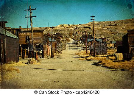 Stock Photography of grunge old ghost town western usa.