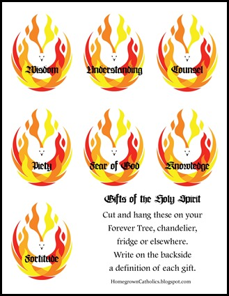 The Gifts of Holy Spirit Clip Art.