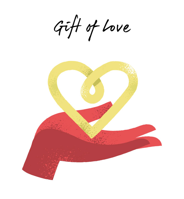 The gift of love clipart.