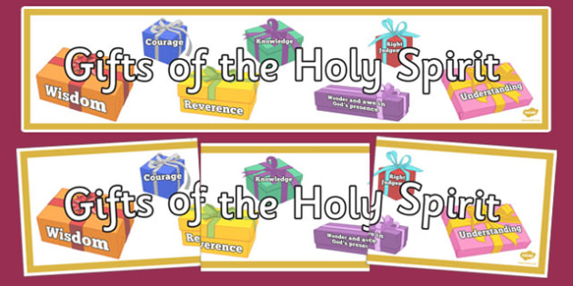Dyslexic Gifts of the Holy Spirit Display Banner.