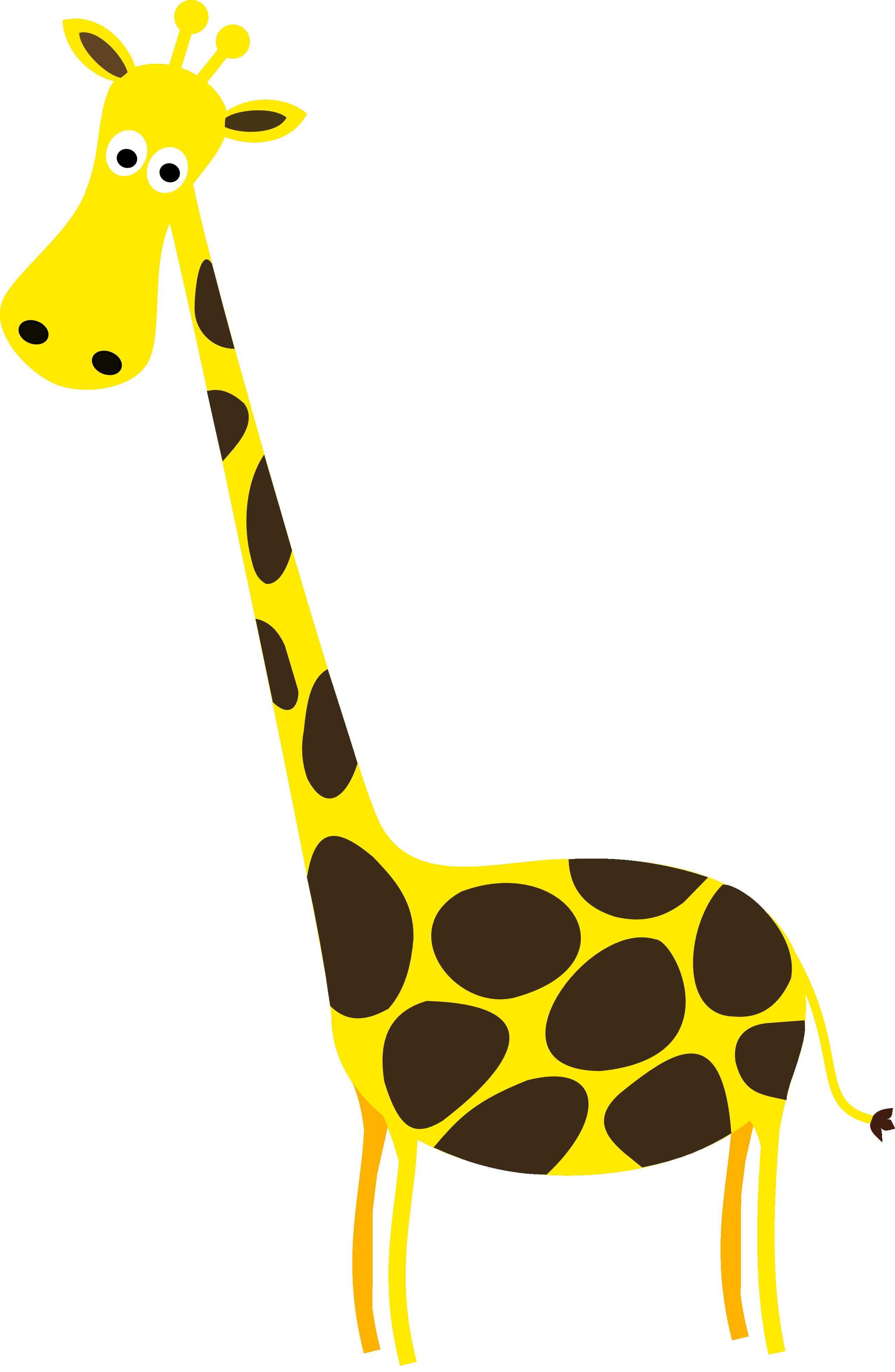 Giraffe clipart transparent.