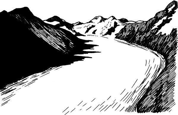 Glacier Clipart Black And White.