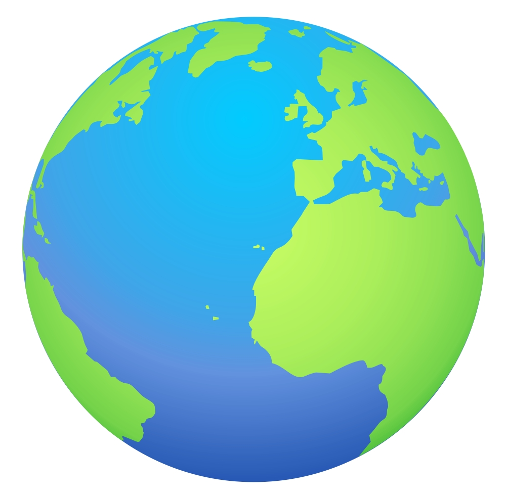Globe of the world clipart.