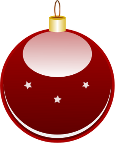Glossy red Christmas ornament vector clip art.