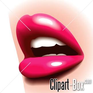 CLIPART GLOSSY LIPS.