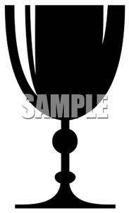 Picture: Black and White Goblet of Wine.