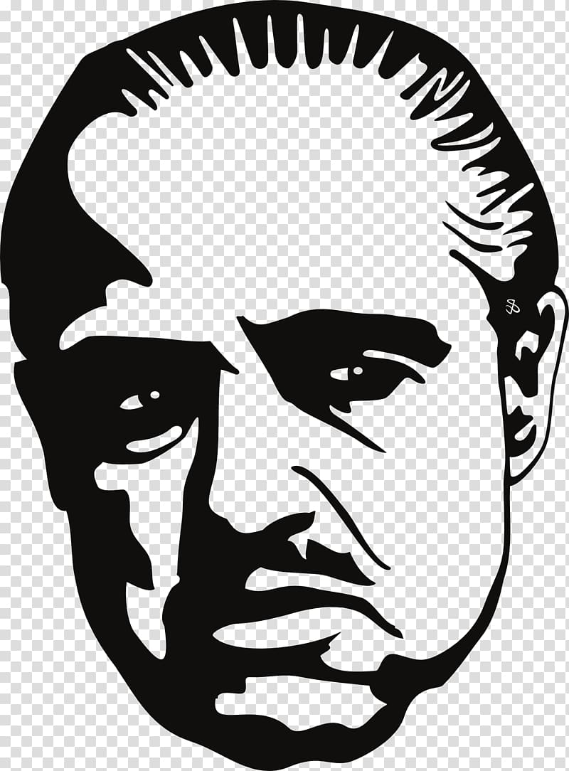 The Godfather stencil artwork, Marlon Brando The Godfather.