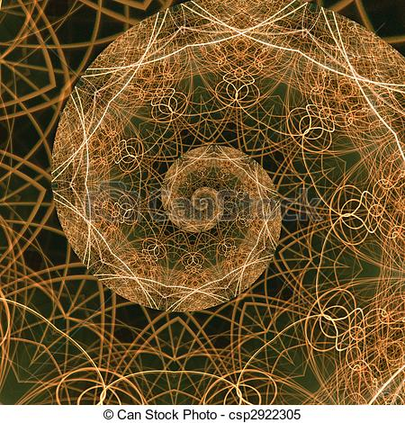 Stock Illustrations of The Golden Ratio, a mathematical phenomenon.