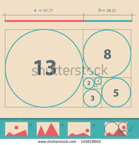 Golden Ratio Stock Images, Royalty.